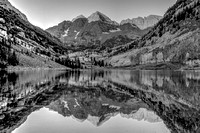 Maroon Bells Black and White