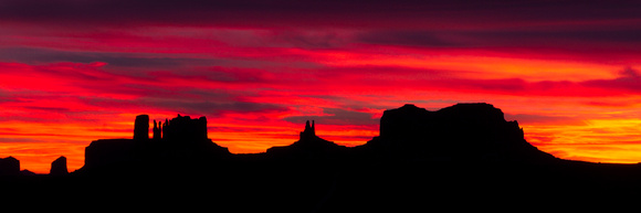 Monument Valley on Fire